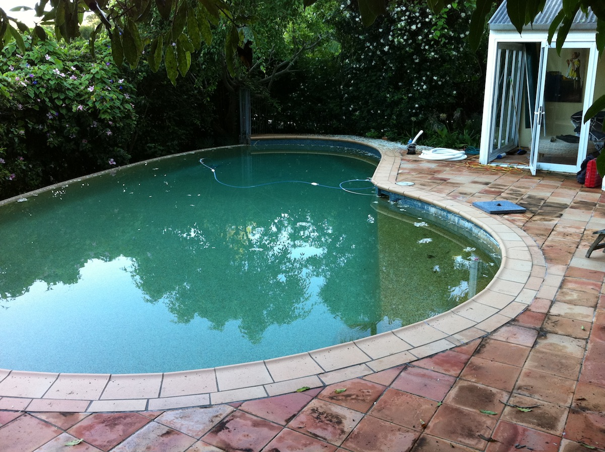 Residential Pool Project - Greenwich Before