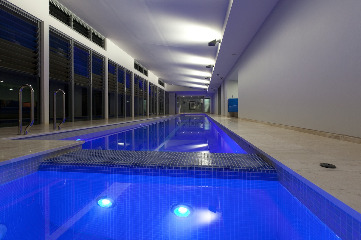 The Ultimate Luxury A Sunset Indoor Lap Pool And Spa
